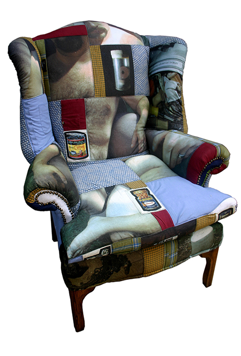 Mixed Nuts, photographs on fabric and chair © Tom Van Stone