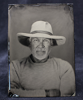 Tintype made at an Eastman House Workshop